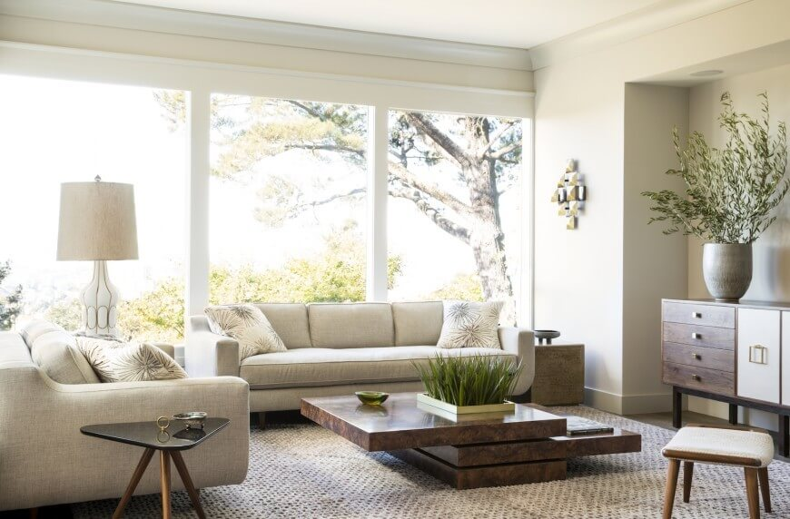 bright living room decoration and color