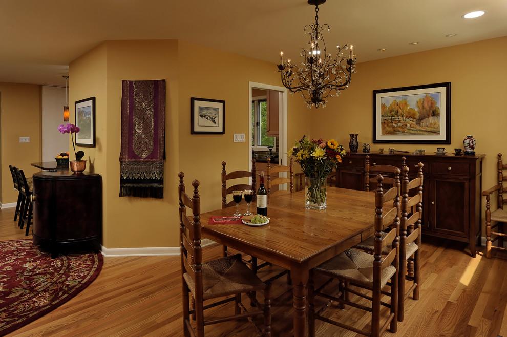 custom furniture with bronze pendant lamp