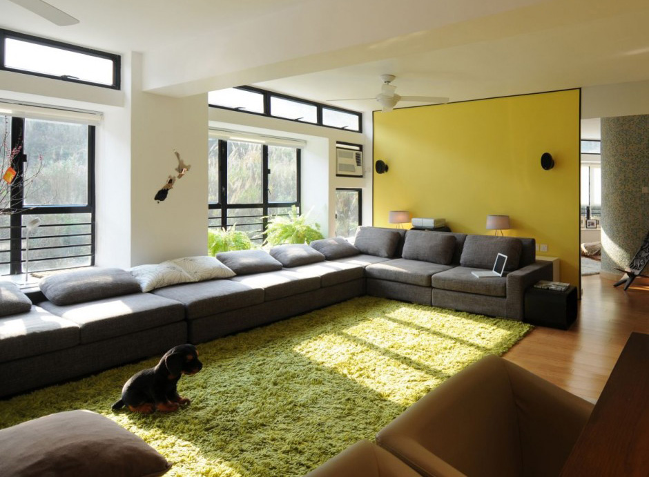 green area rugs modern house