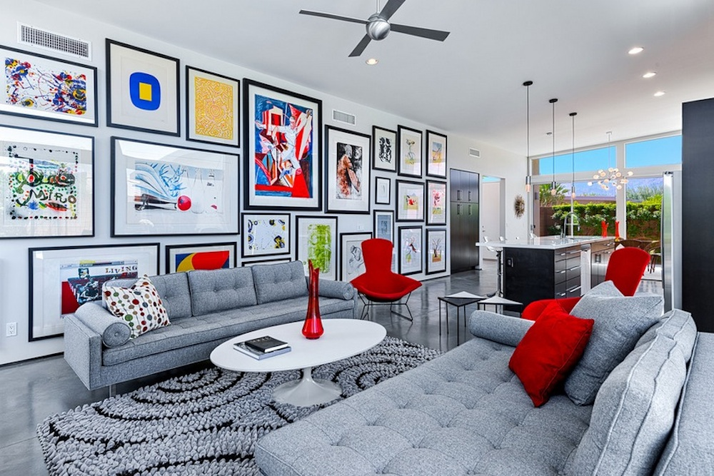 colorful living room decoration