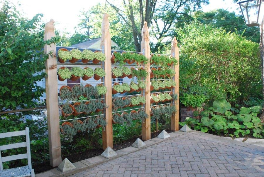 pot plants fence ideas