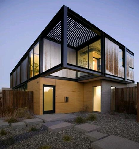 Big Window Container House Design