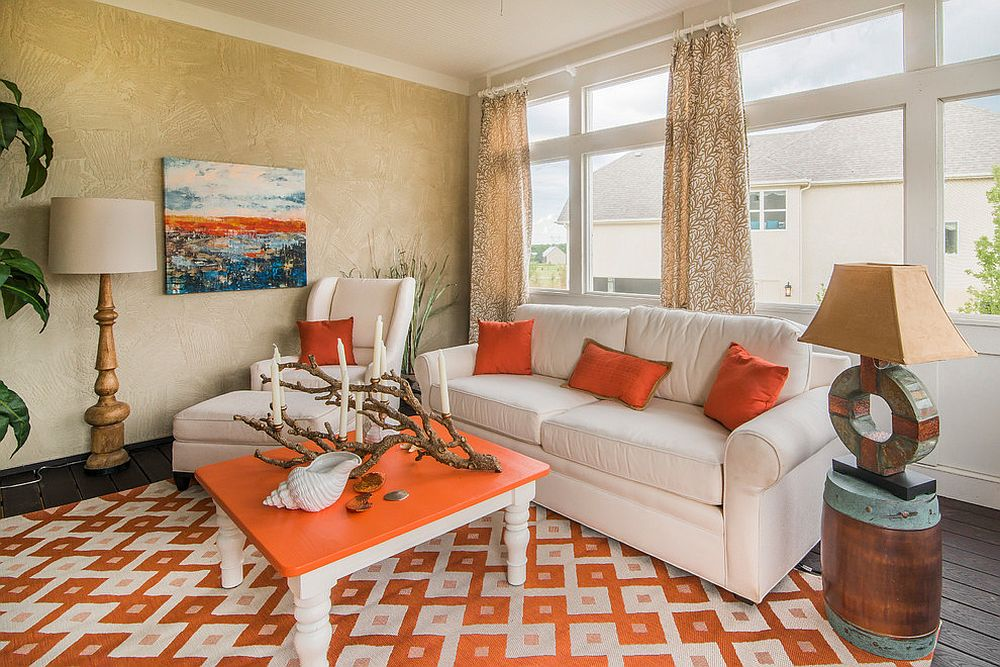 orange color furniture ideas
