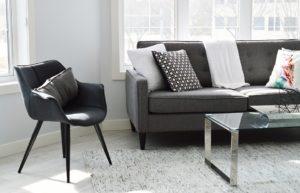 minimalist black decorative sofa ideas