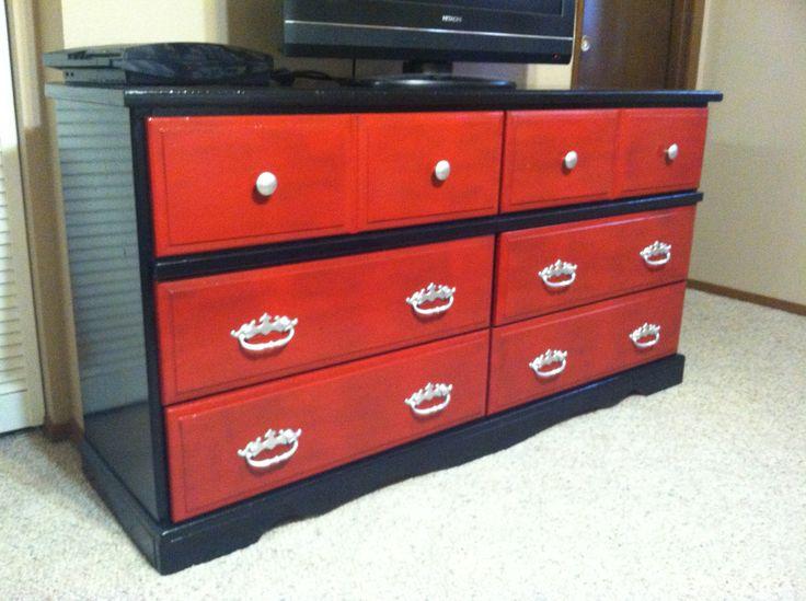 red spray furniture ideas