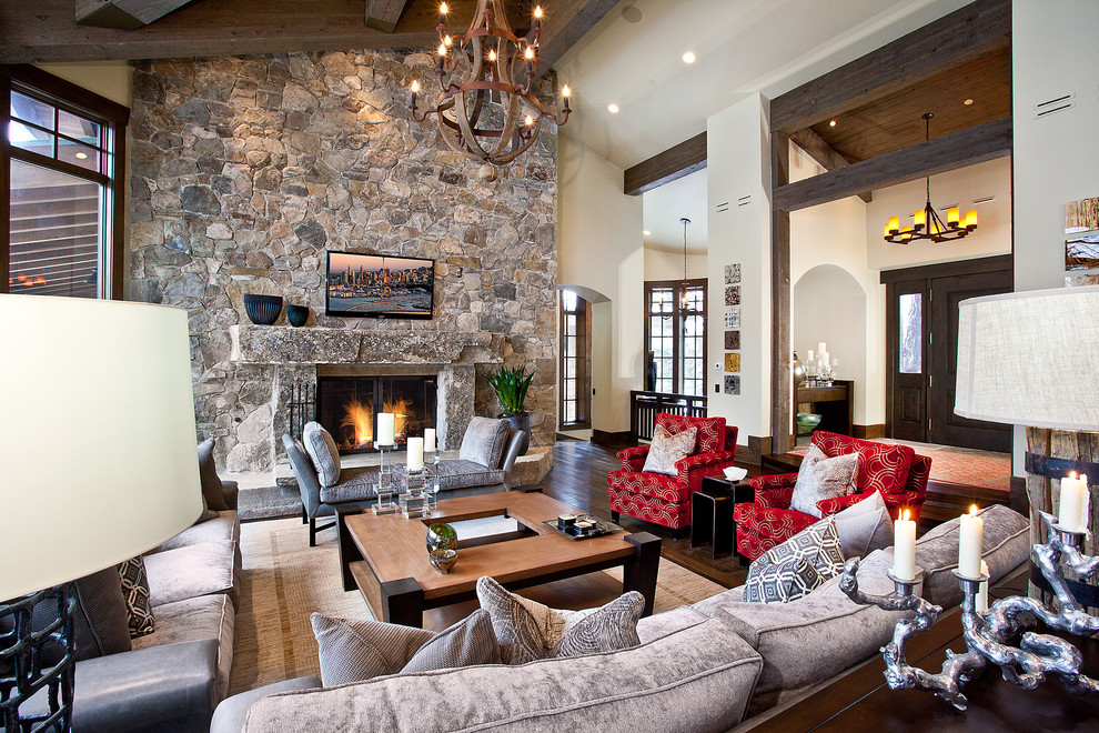 sample house with chandelier ideas