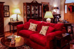 red modern sofa design