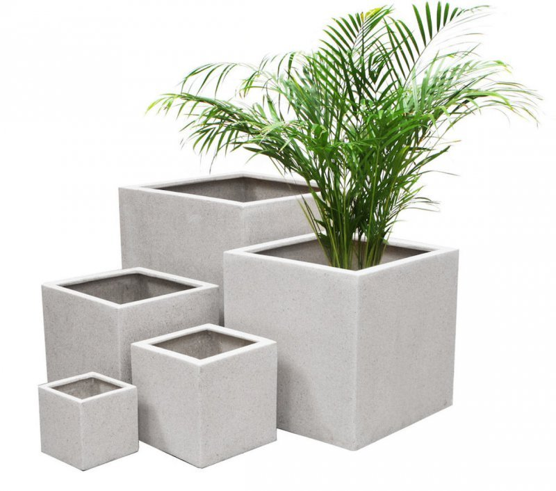 Square Shape Minimalist Design Pots Idea