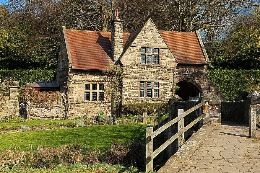 ancient architecture beautiful building cottage country countryside england english