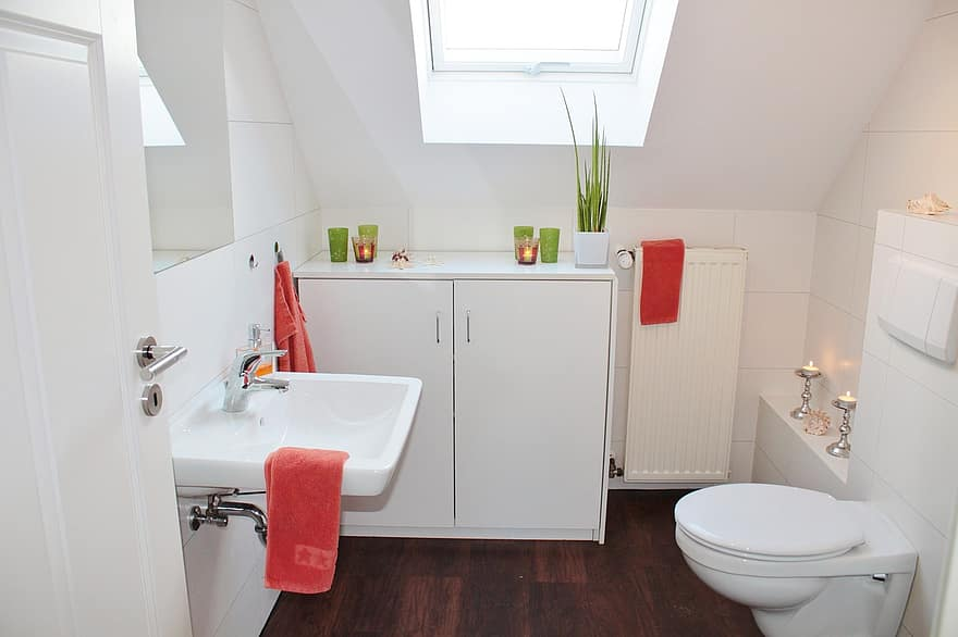 bathroom bad toilet bathroom sink sanitaryblock apartment architecture setup set up