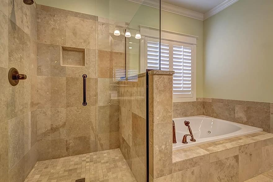 bathroom tile house faucet architecture indoors residential interior bath