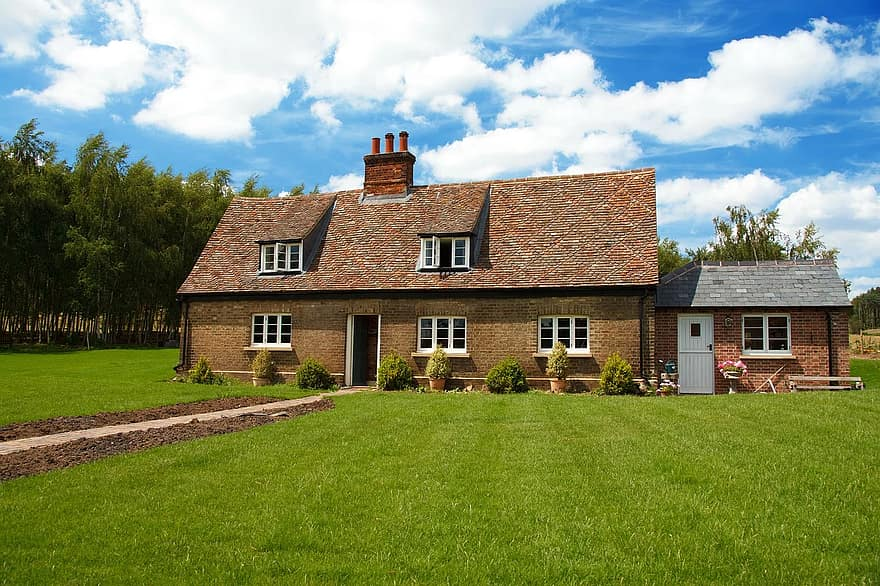 beautiful cottage estate garden grass home house nice property