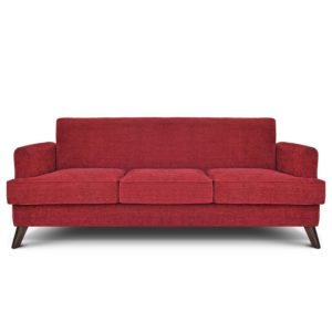 maroon Modern 3 seats sofa interior design