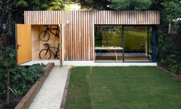 container house ideas and bike garage design
