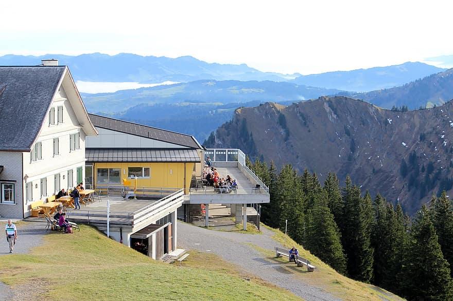 gastronomy inn mountain guest house kronberg panorama alpstein view appenzell switzerland
