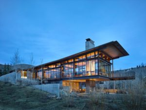 glass combination material container house