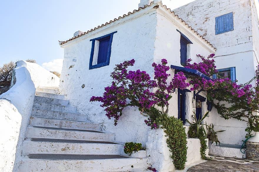 greece skopelos island greek sporades mediterranean aegean town chora