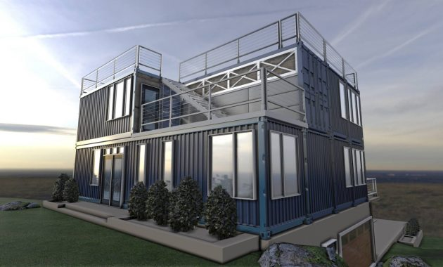 grey container house