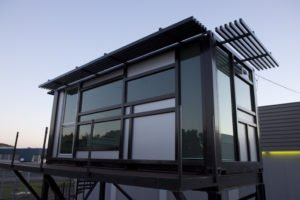 minimalist dark color container house