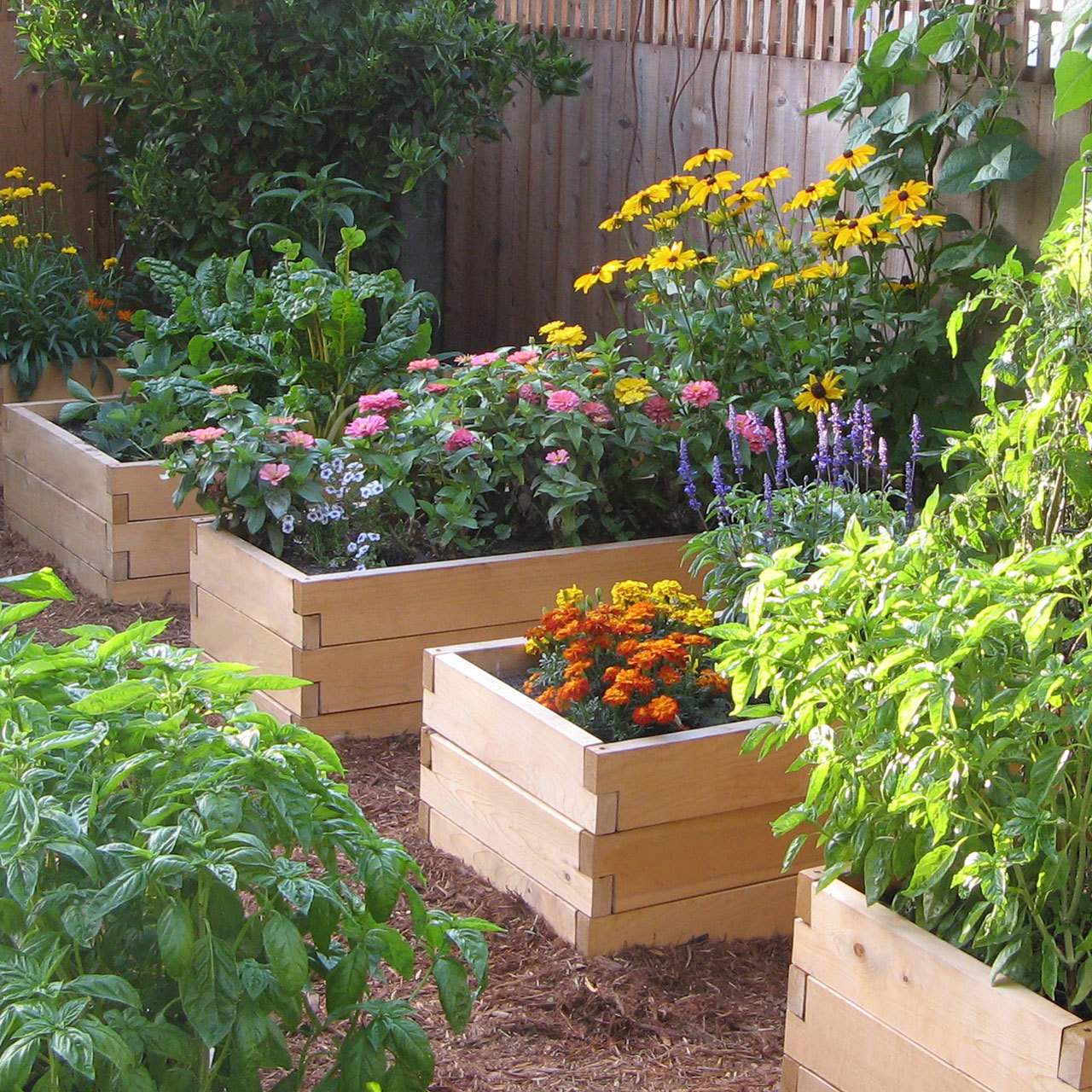 natural raised garden beds
