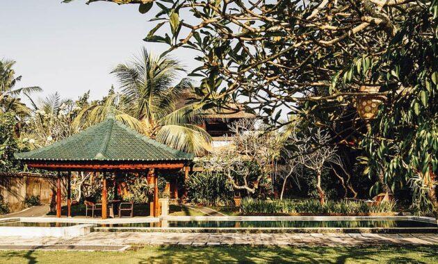 pavilion backyard garden oriental tropical architecture