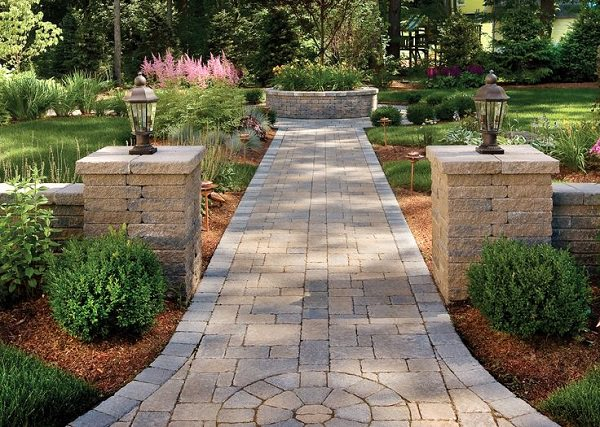 symmetry garden path design