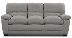 sofa grey with 3 seats and short
