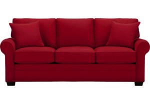 sofa red color with 3 seats