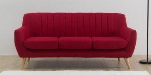 sofa red with legs