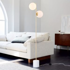 sofa white color with pillows design