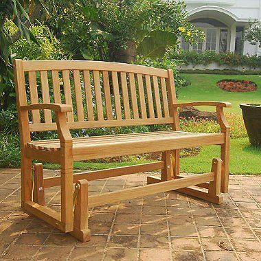 teak glinder bench simple minimalist