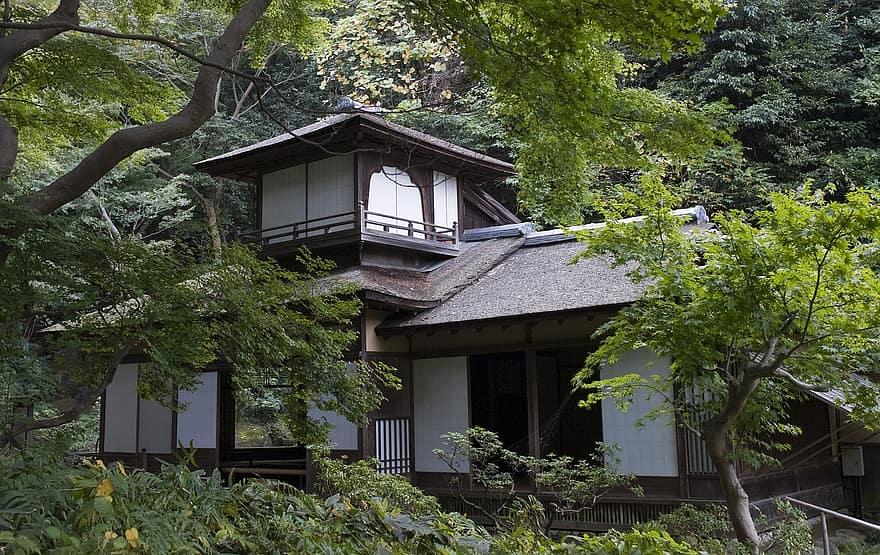 the choshukaku japanese house traditional wood garden in yokohama japan japanese garden old house architecture