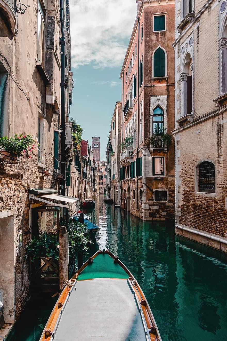 venice gondola water architecture boat bridge buildings canal city