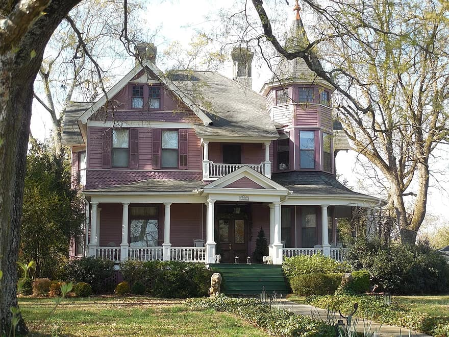 victorian house old architecture victorian house building home exterior residential
