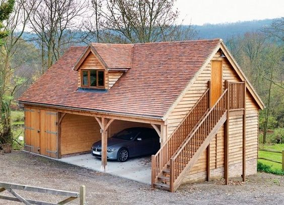 wooden garage inspiration