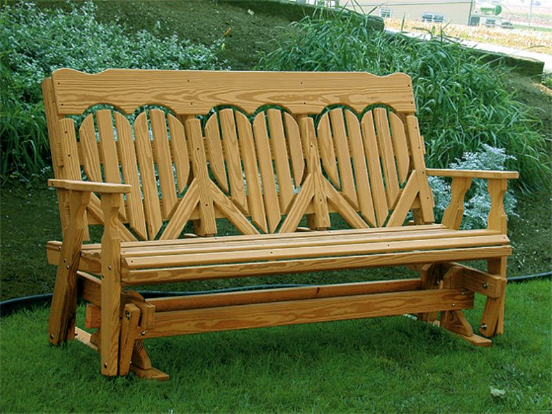 wooden glinder bench love design