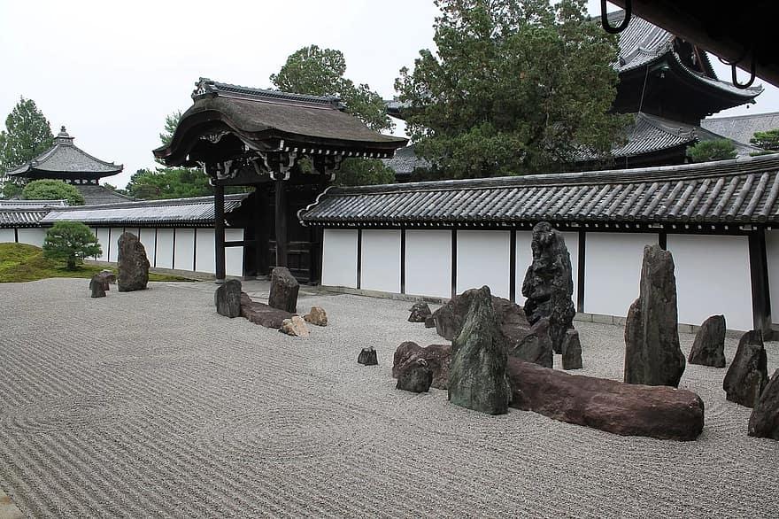 zen garden sand stone japanese zen garden rock buddhism spirituality