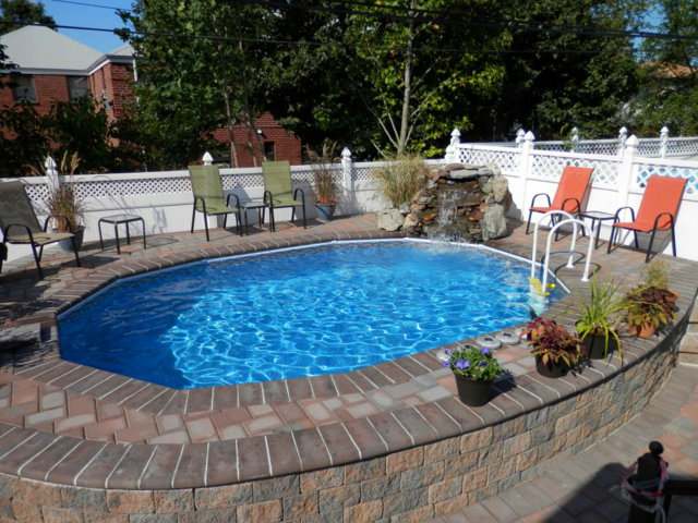 Natural Swimming Pool Designs - above ground pool oval