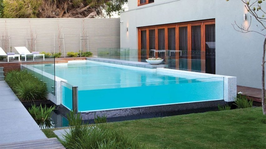 Natural Swimming Pool Designs - above ground pool rectangle