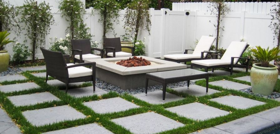 awesome backyard stone patio ideas