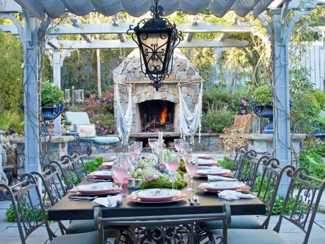 backyard dining room