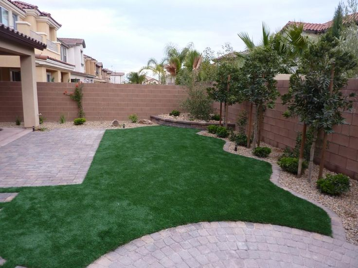backyard landscaping grass and patio