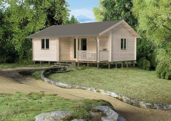 backyard log cabin