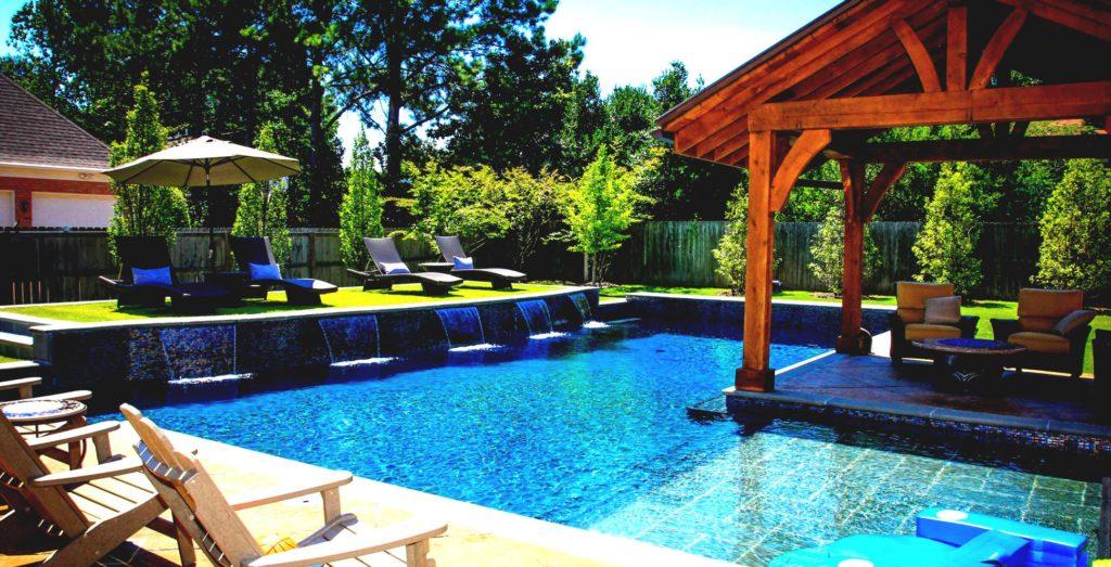 backyard pool landscape
