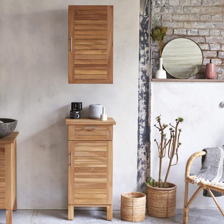 bathroom wooden storage design