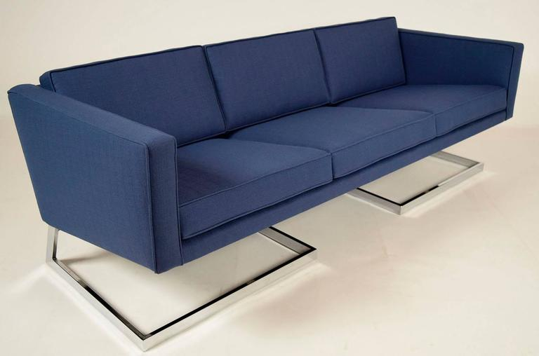 blue single floating sofa design
