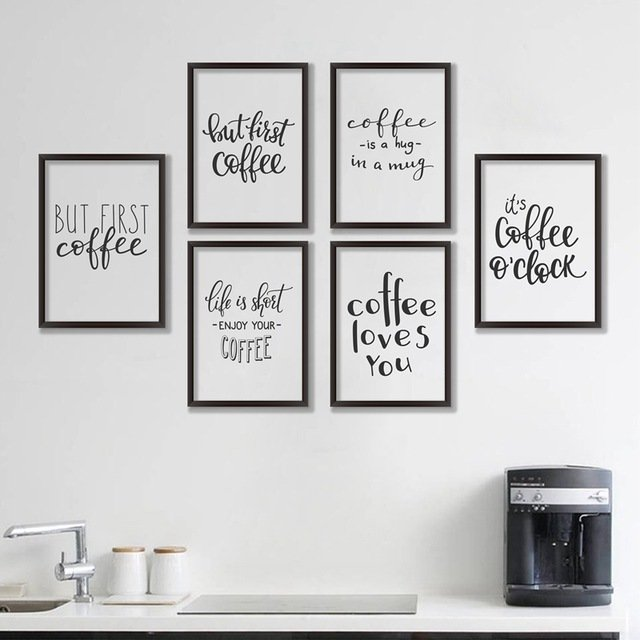 coffee quote canvas wall art ideas