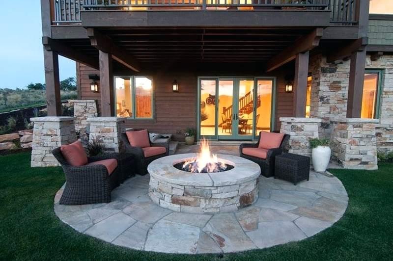 fire pit backyard design