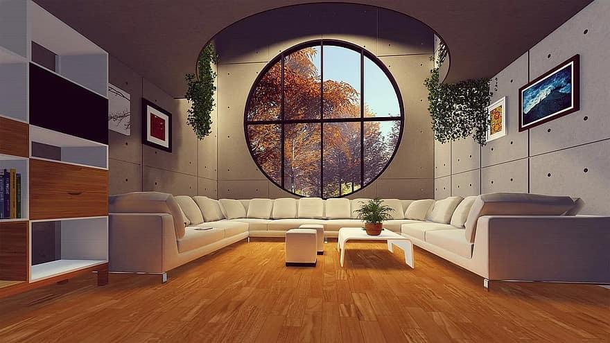 indoors furniture room window contemporary inside luxury modern sofa