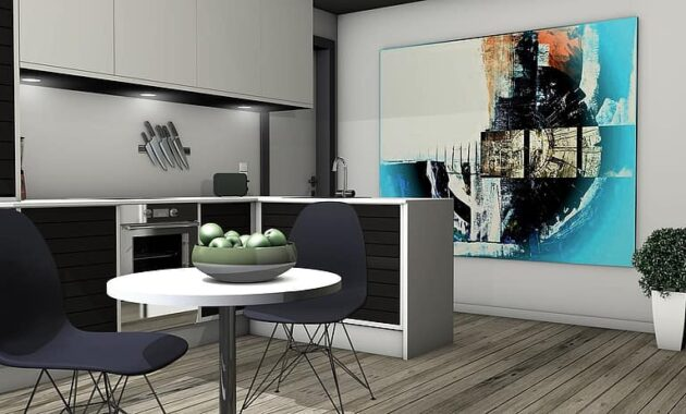 kitchen lichtraum gallery living room apartment graphic rendering architecture 3d visualization 2